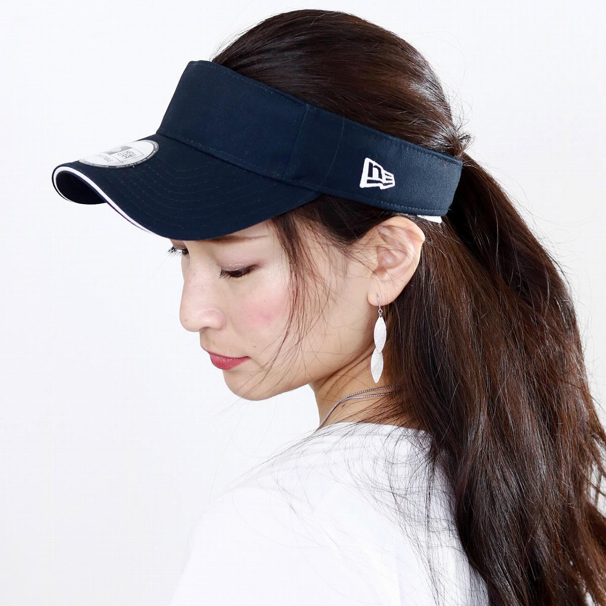 90278e78 ELEHELM HAT STORE: NEWERA oar season hat Lady's sun visor Lady's sports new  gills sun visor men UV measures walk / navy | Rakuten Global Market