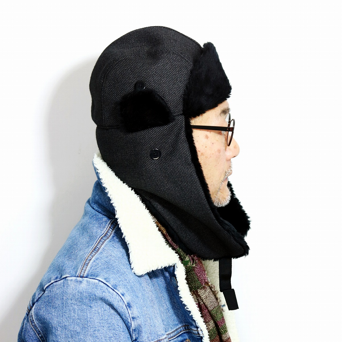 86a62f895f5 Flight cap fall and winter sartorial crown new york earflap fake fur  gentleman flight hat men
