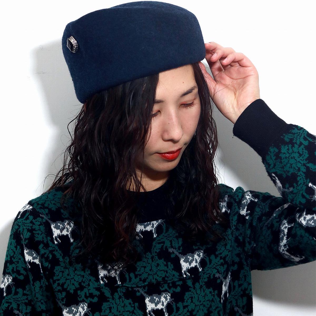 e5b2f7cf5ec928 ELEHELM HAT STORE: It is a gift Christmas present in gully Arno Sor Bhatti  Shin pull wool talking hat Lady's hat fashion felt 紺杢 navy [hat] Mother's  Day ...