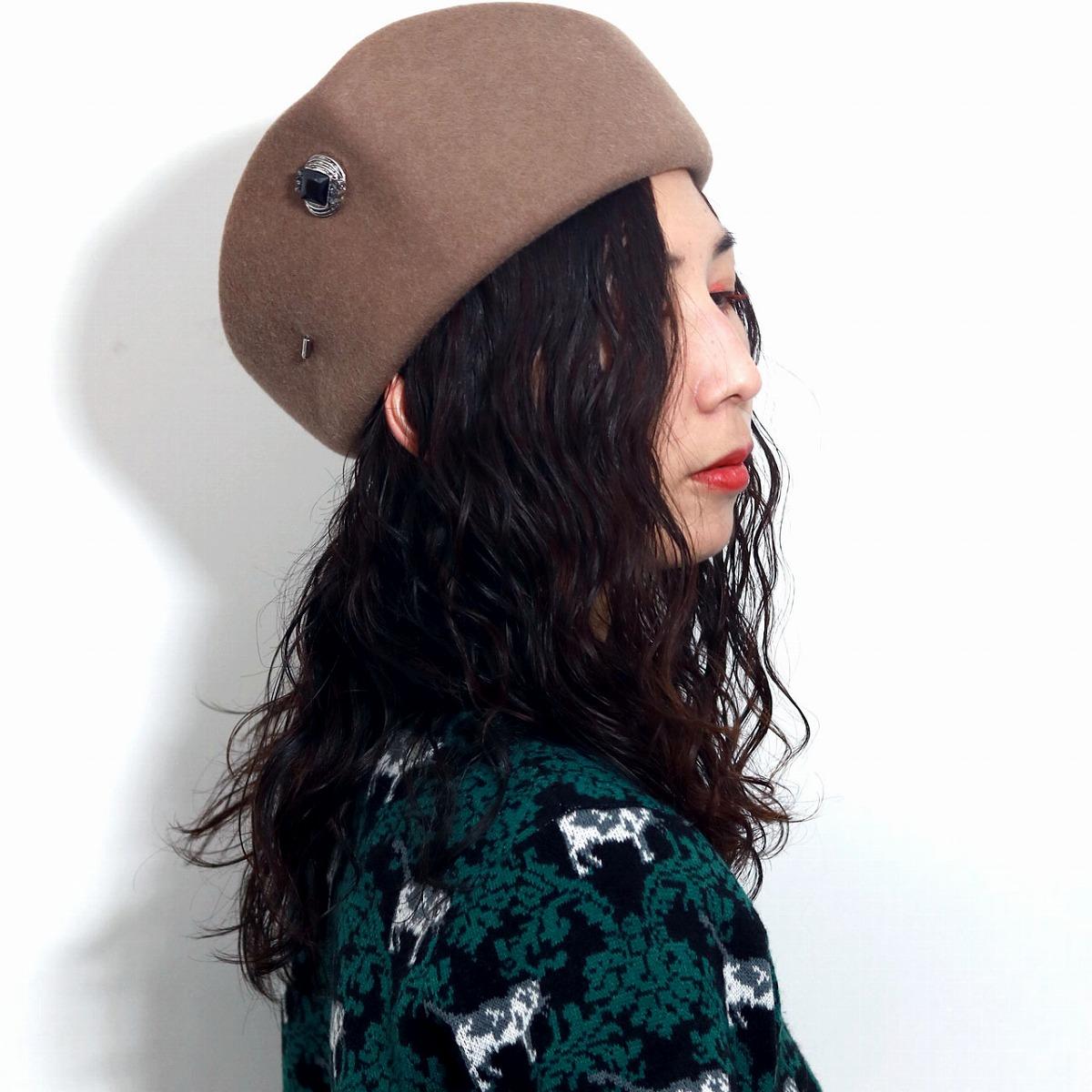 00622b09629ba8 ELEHELM HAT STORE: It is a gift Christmas present in Shin pull wool formal  dress GALLIANO SORBATTI talking hat talking hat beige Mocha [hat] Mother's  Day ...