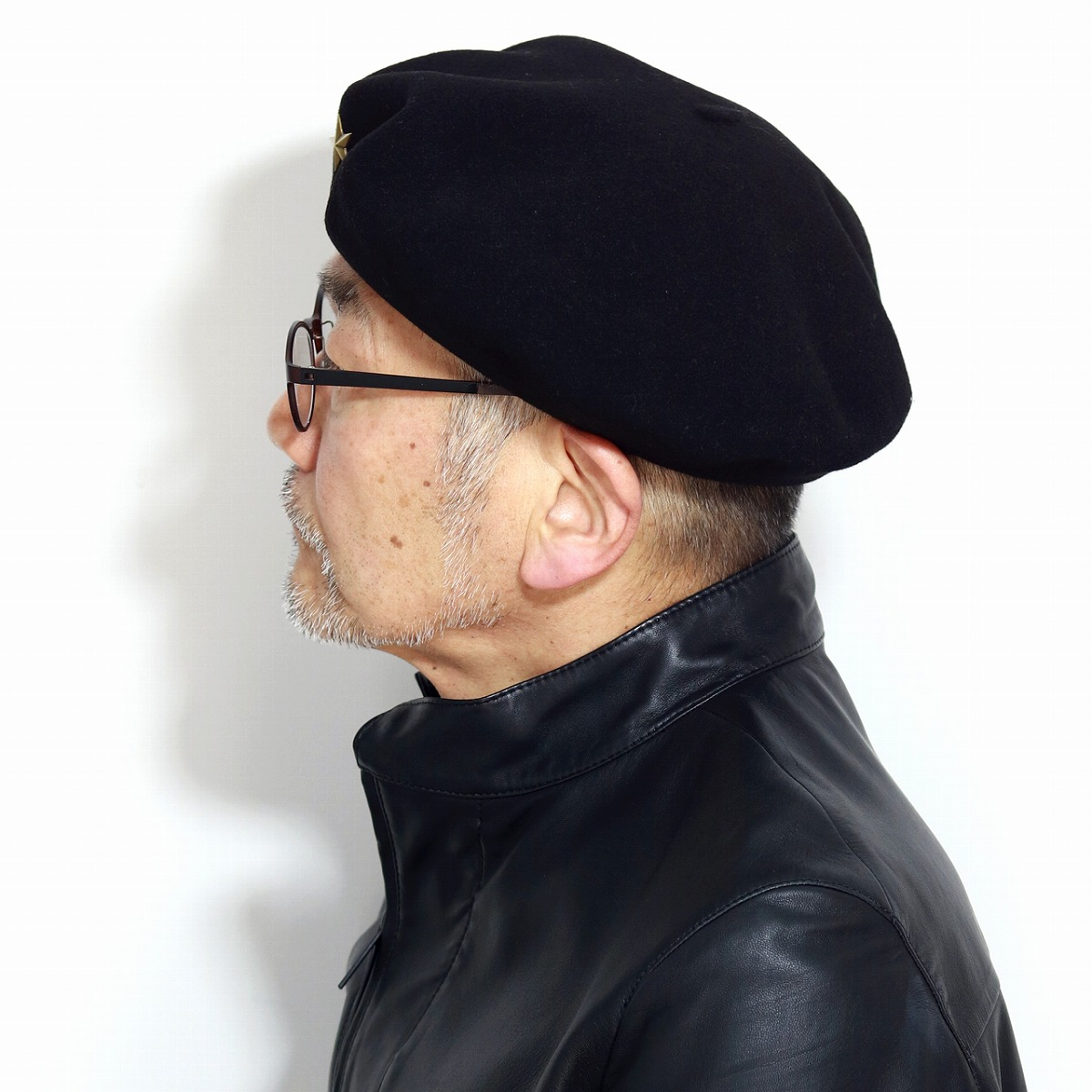 Shin pull laurel beret black black made in Basque beret France with the  beret Che Guevara recreation model star hat men Laulhere beret low rail box