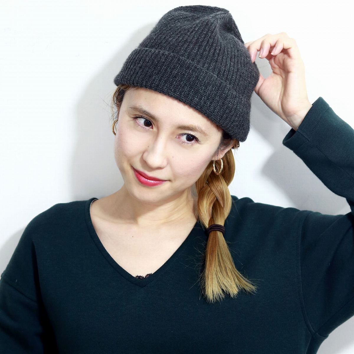 fe431b1d221 Cashmere hat men knit hat Lady s watch cap   gray (Christmas gift packing  lapping free of charge) made in ニットワッチ hat knit hat メンズラカル racal ...