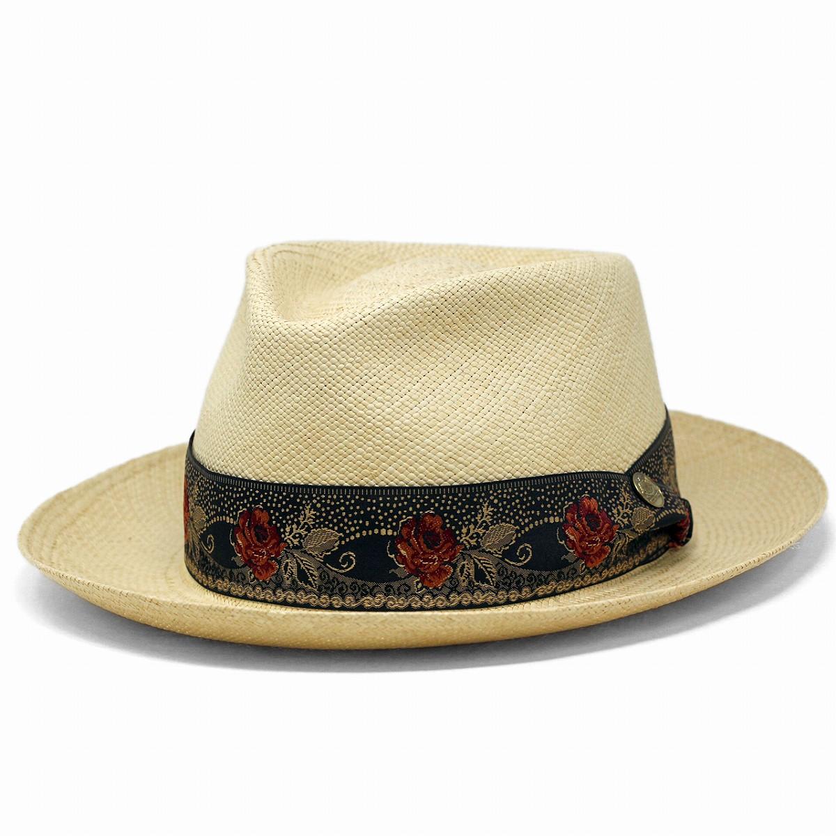 d46006270 Panama hat STETSON rose embroidery ribbon overseas brand Stetson straw hat  men hat soft felt hat hat straw hat 58cm 60cm stetson hat / natural [panama  ...