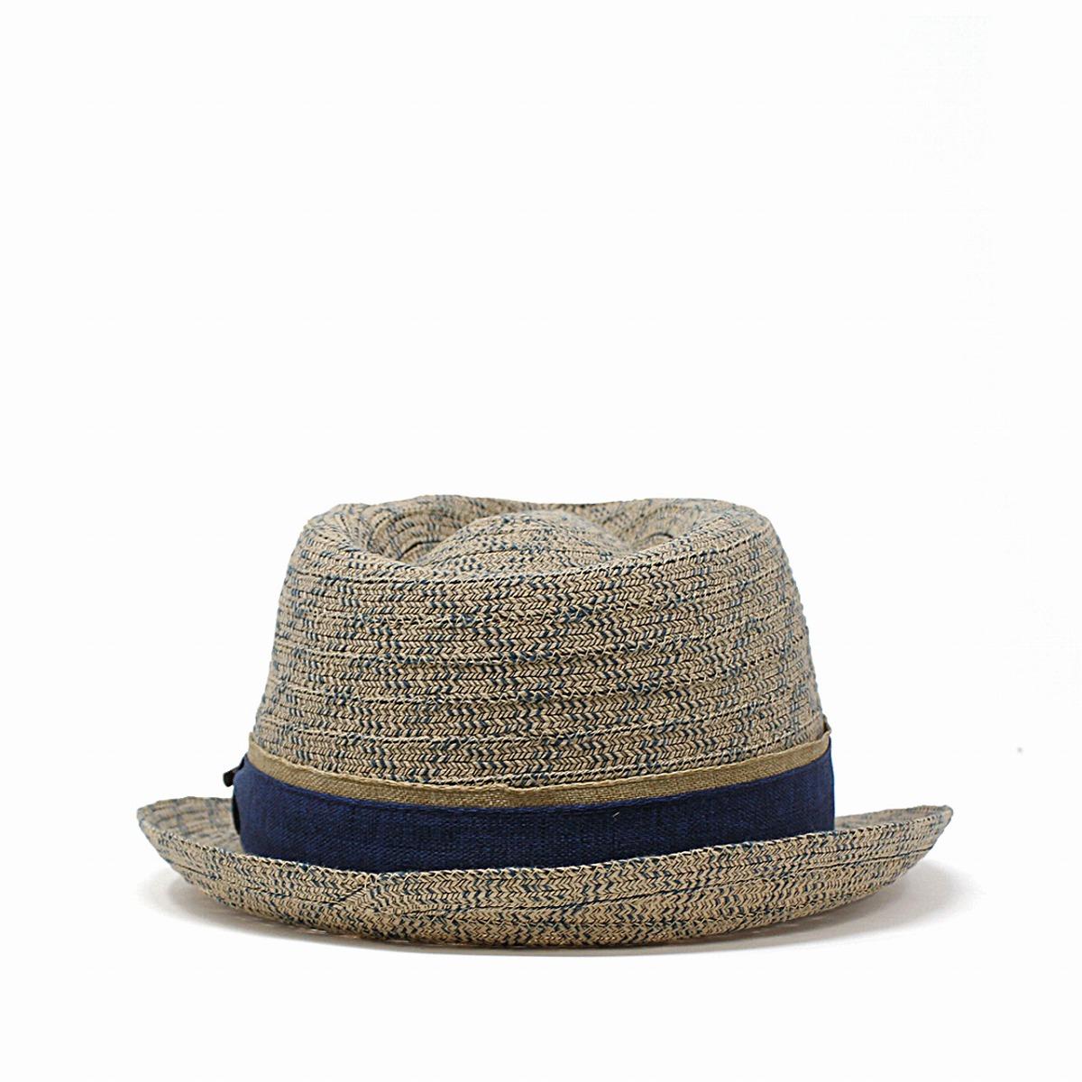 1021caeb ELEHELM HAT STORE: The summer material M L XL dark blue navy [fedora ...