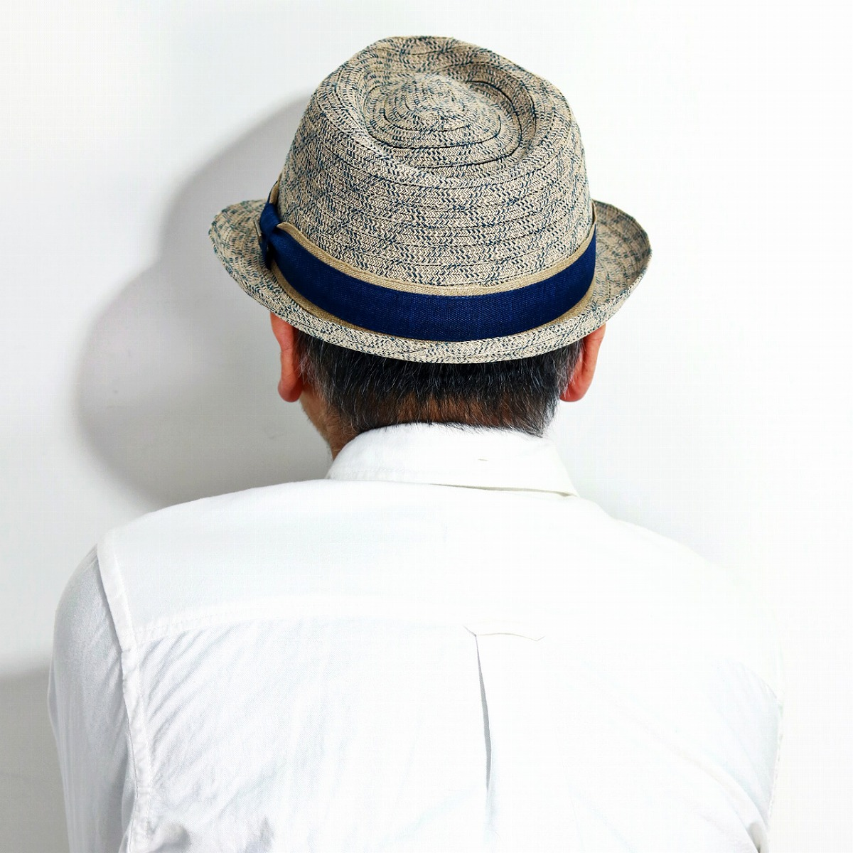 2dccb9ef ... The summer material M L XL dark blue navy [fedora hat] man present  Father's Day