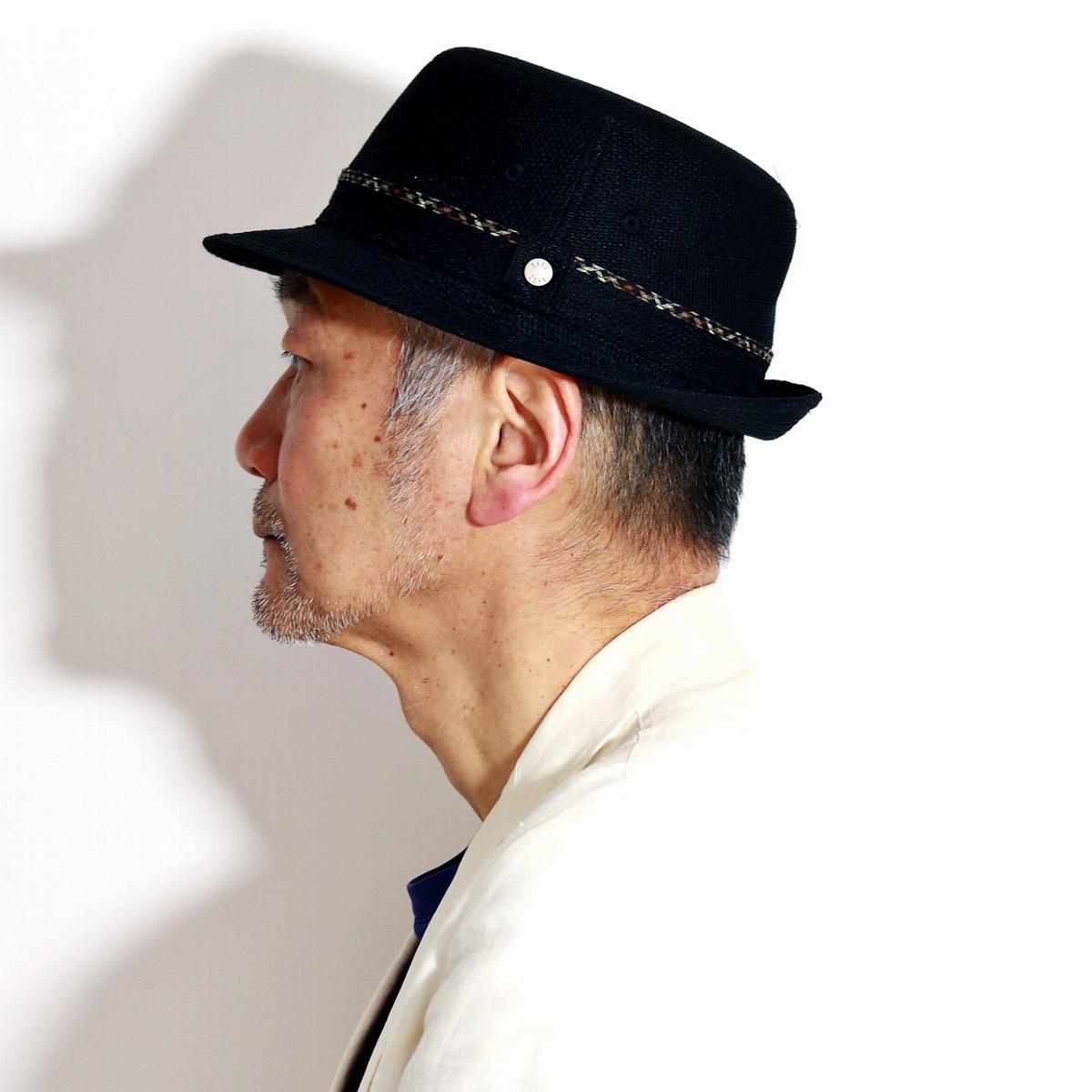 DAKS アルペンハット 鹿の子織り カラミリネン 春 夏 ダックス メンズ 帽子 小さいサイズ 大きいサイズ 麻100% HAT 日本製 アルペン帽 紳士 海外ブランド 高品質 / 黒 ブラック[ alpine hat ]男性 誕生日 帽子 父の日 ギフト プレゼント