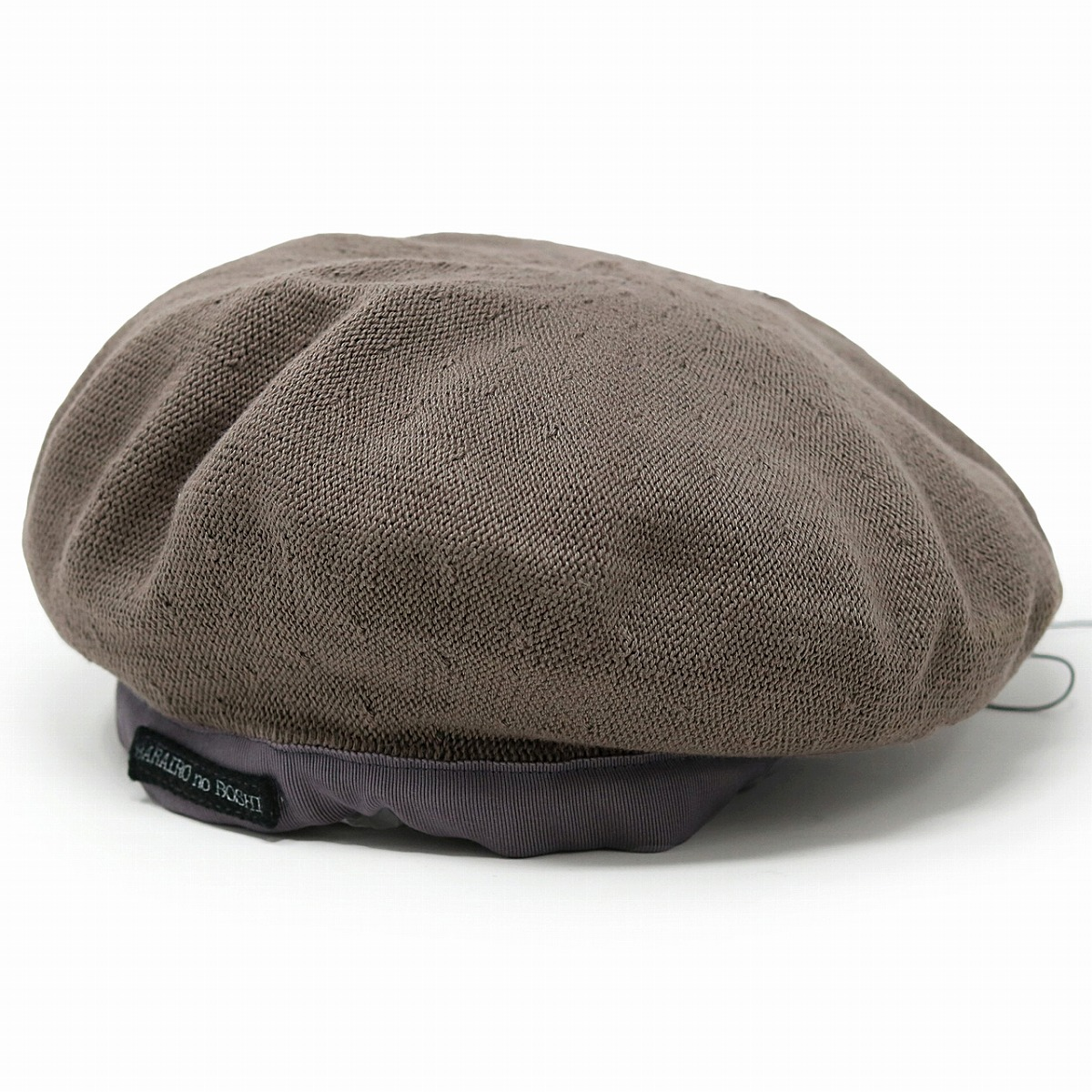Hat army beret fashion adjustable size size adjustment Barairo no Boushi  cotton 100 / tea cafe au lait [beret] of the entering beret natural Shin  pull