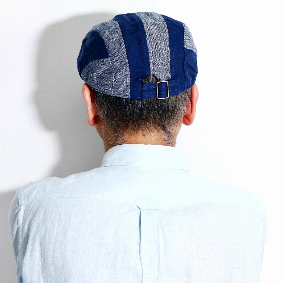 bd9d3f320 ruben hunting cap stripe men Rouben hunting cap hat saliva long chambray  linen hat 58.5cm RUBEN hunting cap hat gentleman hemp unisex size  adjustment ...