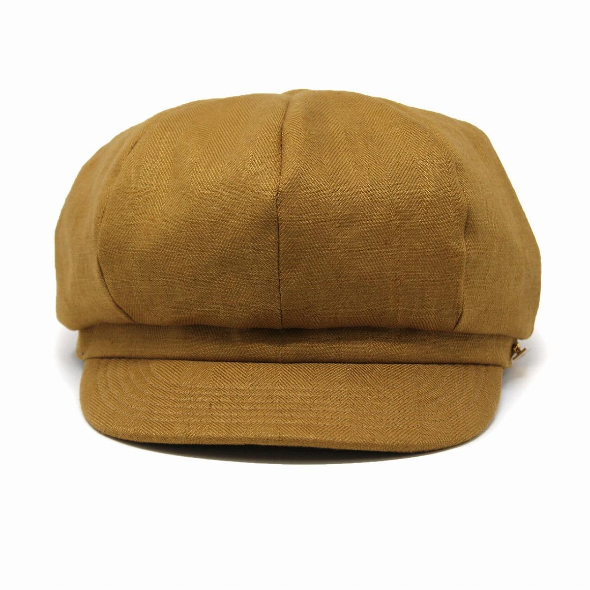 cdfcf9fb9 Linen hat men maison Bath plumply adjustable size / camel [newsboy cap]  made in silhouette casquette Lady's hemp cas casquette hat gentleman 8  panel ...