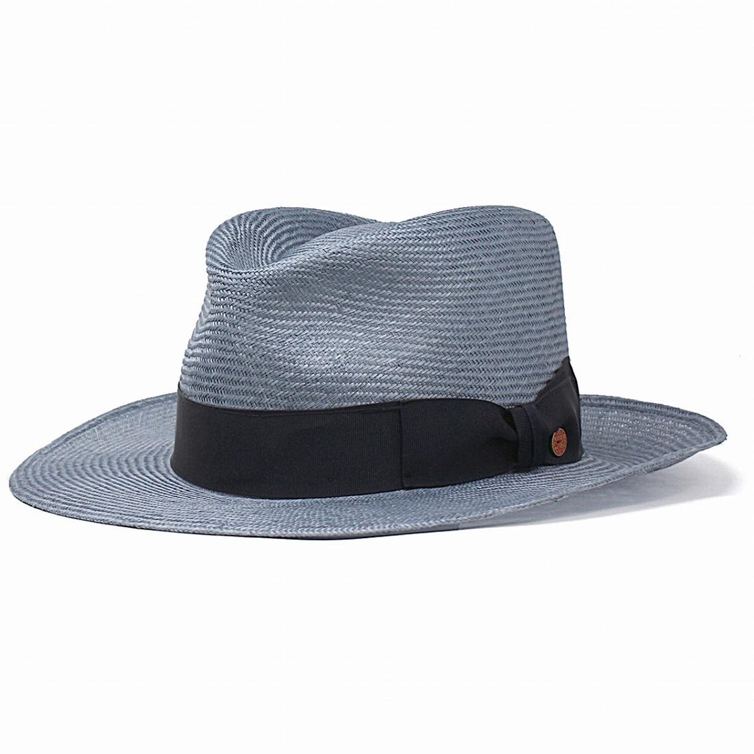 ストローハット つば広 マイザー 春 夏 MAYSER 帽子 麦わら帽子 メンズ かっこいい お洒落 ツバ広ハット 中折れ ハット ワイドブリム インポート ブランド mayser asphalt HAT / ライトブルー [ straw hat ] 父の日 ギフト プレゼント
