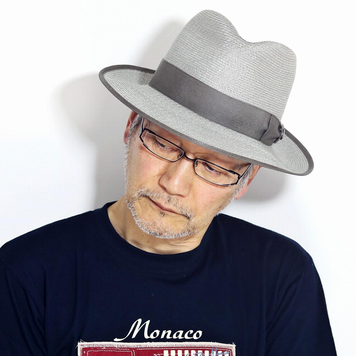麦わら帽子 春 夏 ストローハット STETSON 天然草木 HAT 涼しい 帽子 紳士 メンズ 日本製 ステットソン 中折れハット 日よけ 夏用 麦わら帽 58cm 60cm / グレー[ straw hat ][ fedora hat ]送料無料 男性 プレゼント 父の日 ギフト ラッピング無料
