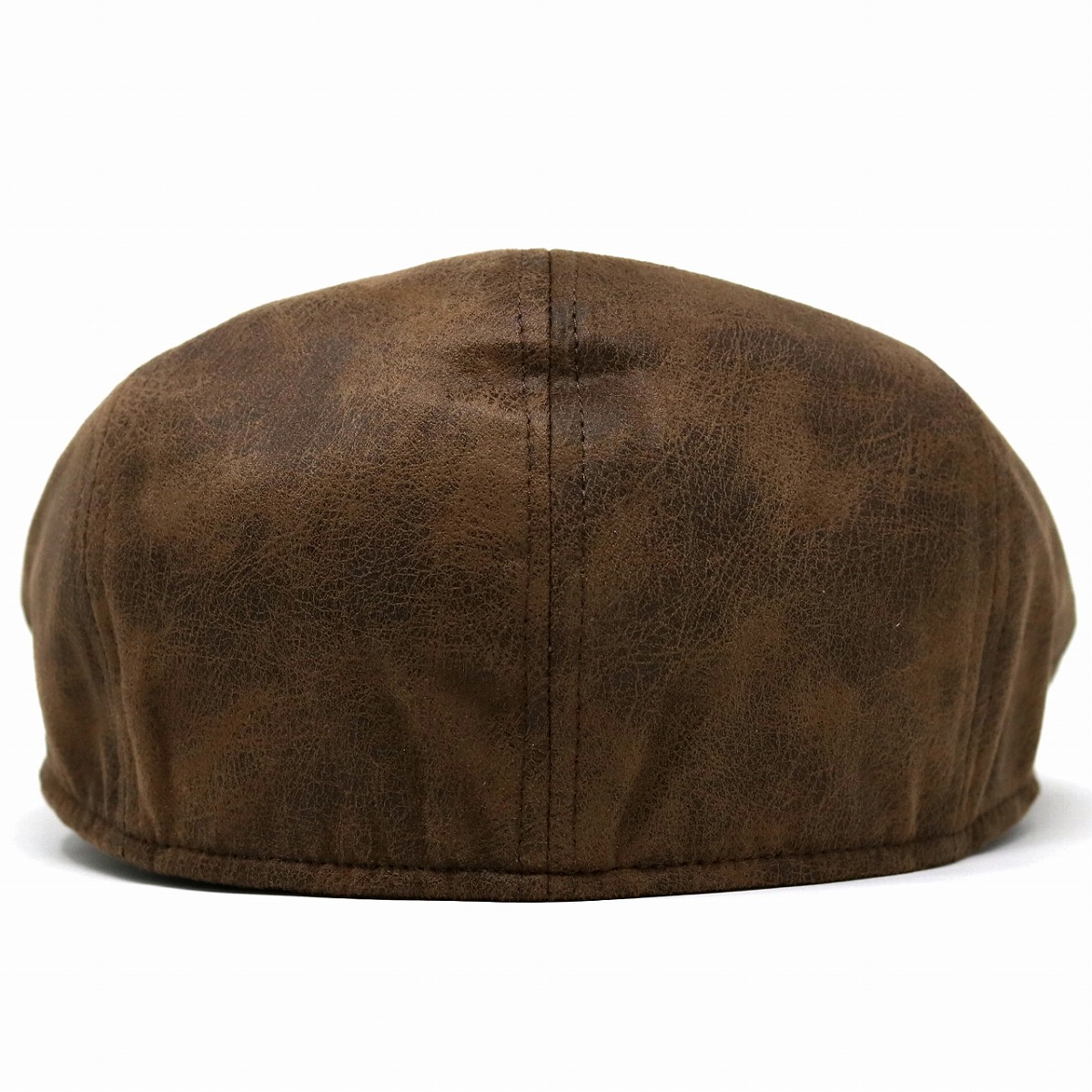 Henschel Mens Faux Ultra-Suede Leather New Shape Ivy Hat Newsboy Cap