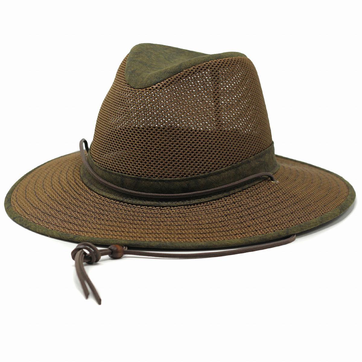 ヘンシェル マニッシュハット メンズ 大きいサイズ HENSCHEL 春 夏 アウトドア 紐付き ハット XL 2XL 3XLあり アメリカ 涼しい つば広 日よけ 帽子 紳士 ワイドブリム UVカット mannish hat / DSTゴールド [ wide-brim hat hat ] 父の日 ギフト プレゼント ラッピング無料