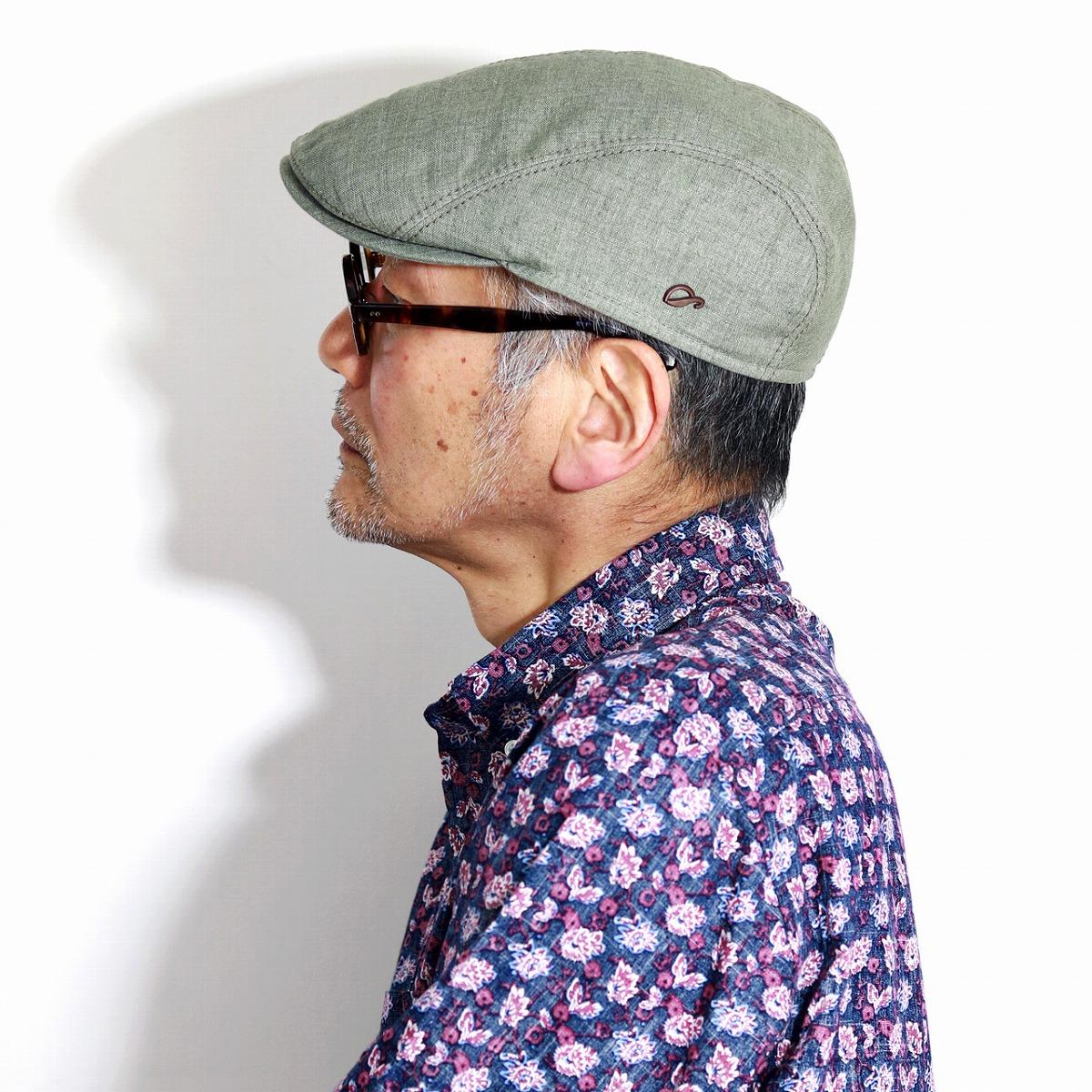 アウトドア 帽子 UV40+ 日焼け対策 ゴットマン ハンチング 麻 春 夏 メンズ リネン100% Gottmann アイビーキャップ 大きいサイズ Ivy cap シンプル 無地 57cm 58cm 60cm 62cm 64cm UVプロテクト カーキ [ ivy cap ] 父の日 ギフト プレゼント 帽子通販 男性 プレゼント