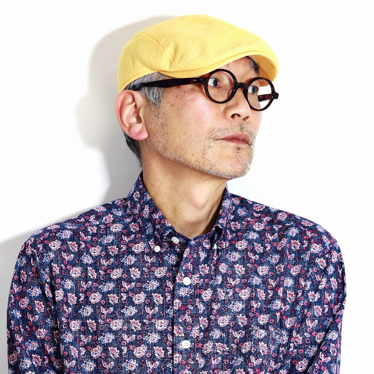 Gottmann 春 夏 メンズ 帽子 リネン100% UV40+ 日焼け対策 アウトドア ゴットマン ハンチング 麻 大きいサイズ 57cm 58cm 60cm 62cm 64cm シンプル 無地 UVプロテクト アイビーキャップ 黄色 イエロー [ ivy cap ] 父の日 ギフト プレゼント 帽子通販 男性 プレゼント
