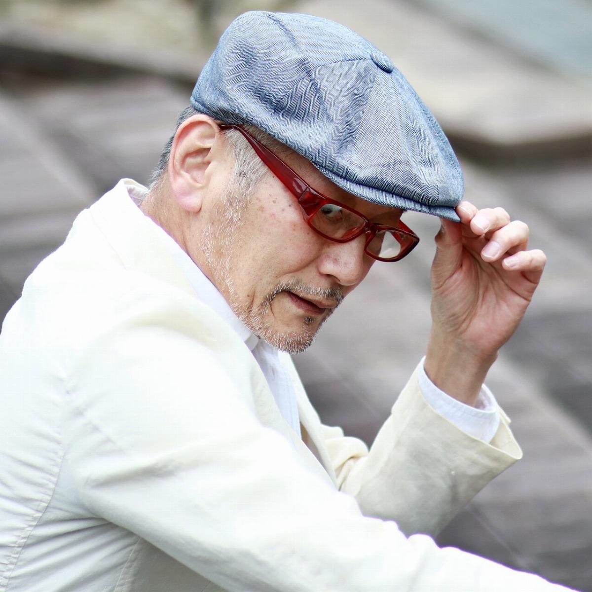 ヘリンボーン 8方ハンチング 春 夏 CHRISTYS' LONDON クリスティーズ リネン コットン 帽子 Ivy cap 海外ブランド メンズ トラディショナル 青 ブルー [ ivy cap ] 父の日 ギフト 誕生日 プレゼント 贈り物 ラッピング無料