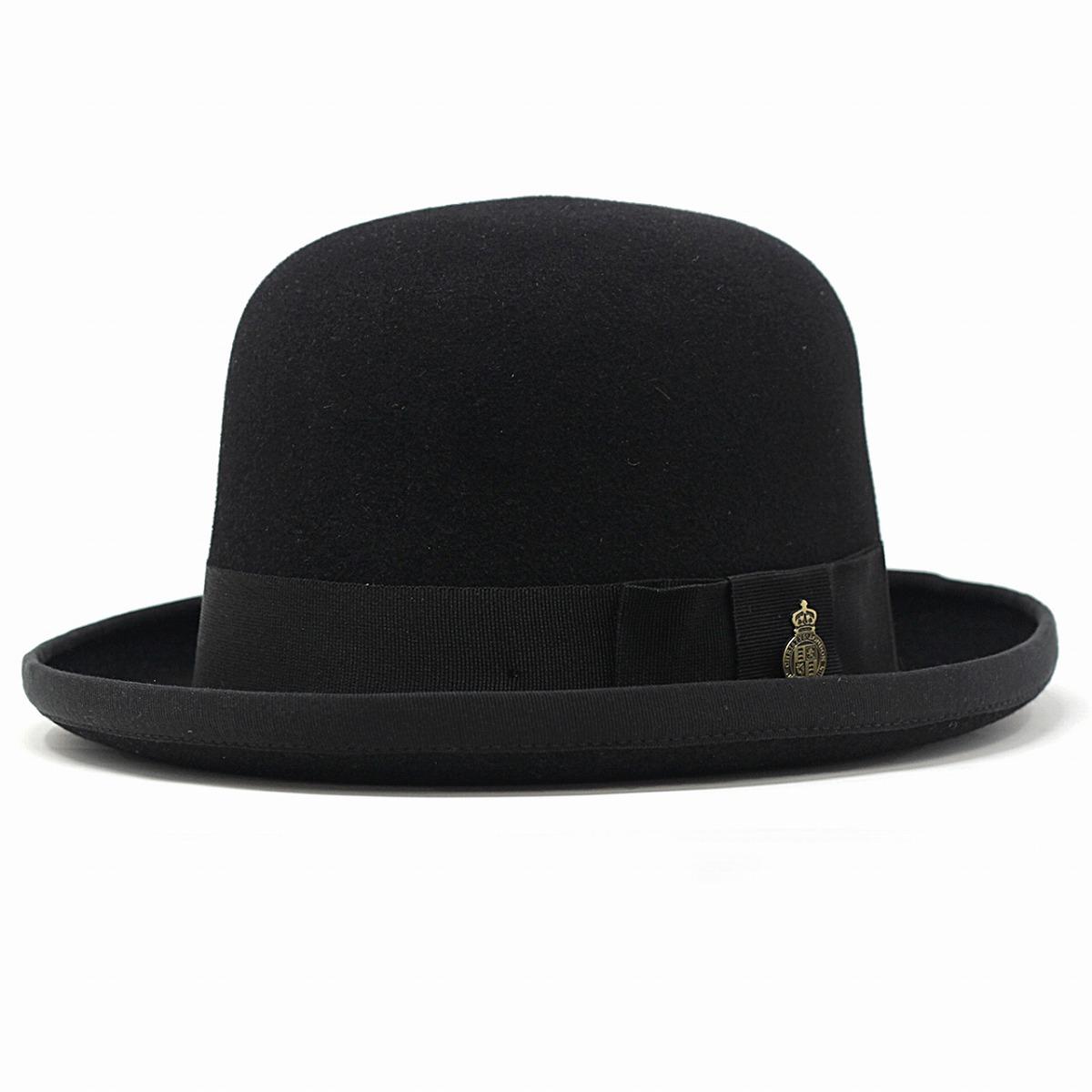 クリスティーズ フェルト ボーラーハット ホンブルグ ラビットファー ハット イギリス製 高級 帽子 秋 冬 CHRISTYS' LONDON 紳士 帽子 56.5cm 60cm 62cm / 黒 ブラック [ boater hat ] [ fedora hat ] 父の日 ギフト 誕生日 プレゼント 贈り物 ラッピング無料