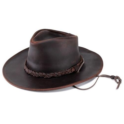 ヘンシェル 本革 カウボーイハット レザー 帽子 1154-23 乗馬 ウエスタン ハット メンズ レディース USA ブラウン テンガロンハット カウボーイ ハット HENSCHEL (テンガロン ウェスタンハット カウレザー レザーハット ウエスタンハット 紳士帽子 ぼうし)