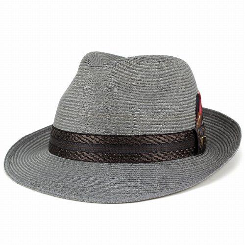 帽子 リネンブレード メンズ 夏 ハット KNOX ストローハット ノックス 中折れハット レディース S M L LL / グレー [ fedora ] [ straw hat ] (麦わらメンズハット 紳士帽子 40代 50代 60代 70代 ファッション 麦わらハット 中折れ帽子 男性 おしゃれ 通販)