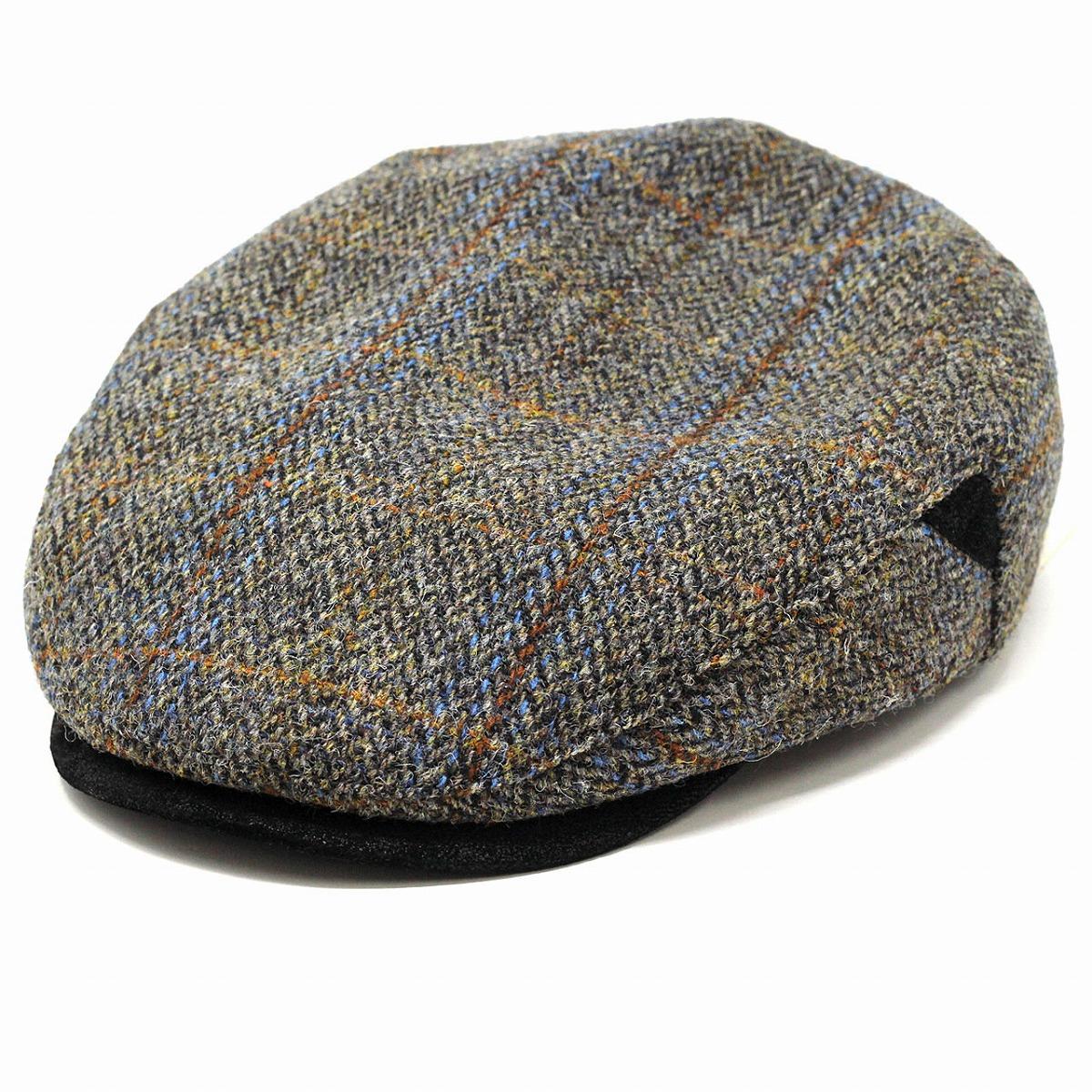 CHADWICK 帽子 ウール メンズ ハンチング帽 秋 冬 ハリスツイード ハンチング 帽子 メンズ STETSON ステットソン ヘリンボーン/グレー[ ivy cap ]男性 プレゼント 帽子通販 父の日 贈り物 ラッピング無料