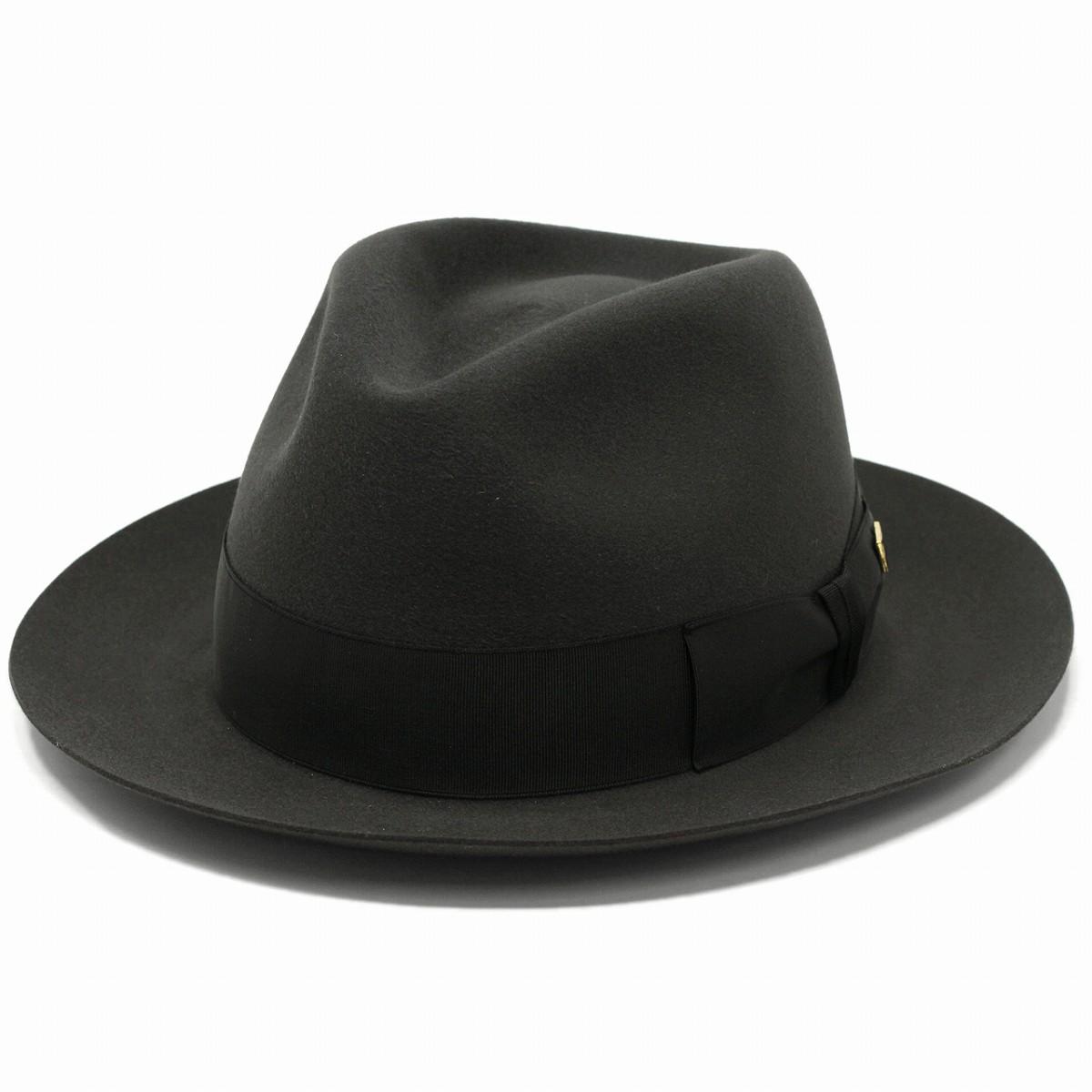 KNOX ハット ビーバーファー フェルト アメリカ ノックス ブランド 高級フェルト 日本製 中折れハット 無地 シンプル フェルト帽 紳士 ダークグレー[ fedora hat ][ felt hat ]クリスマス ギフト 誕生日 プレゼント 男性 帽子通販