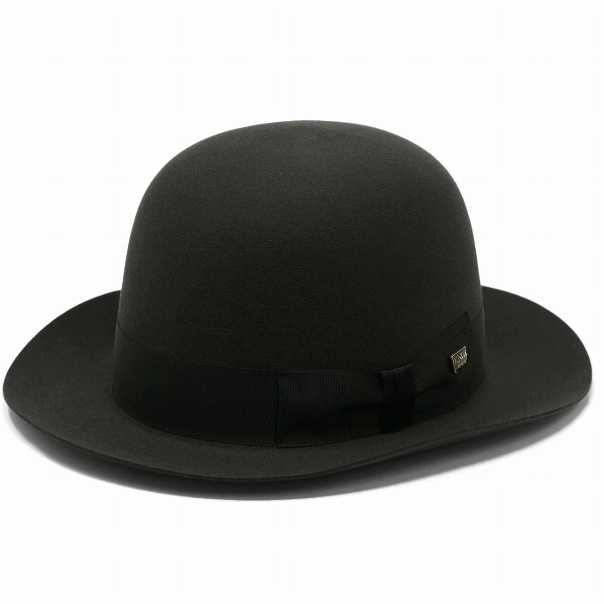 【最高級フェルト ビーバーファーフェルト使用】KNOX フェルト帽 ボーラーハット 帽子 メンズ 日本製 フェルトハット ブランド 紳士 オープンクランハット ノックス 中折れハット ダークグレー[ boater hat ][ felt hat ]
