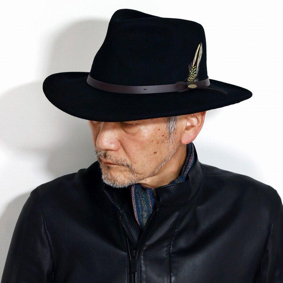SCALA ハット 大きいサイズ ワイドブリム カウボーイ フェルトハット ブランド 帽子 メンズ 撥水 クラッシャブル テンガロンハット 黒 ハット インポートブランド ブラック [ cowboy hat ] [ wide-brim hat ]男性 帽子 プレゼント クリスマス ギフト