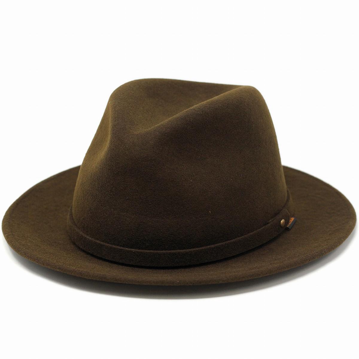 ステットソン 通販 STETSON hat ハット 防水 クラッシャブルウール フェルトハット 日本製 アメリカ ブランド 中折れ帽 茶 ブラウン [ felt hat ] [ fedora hat ]( クリスマス ギフト包装 ラッピング 無料 )