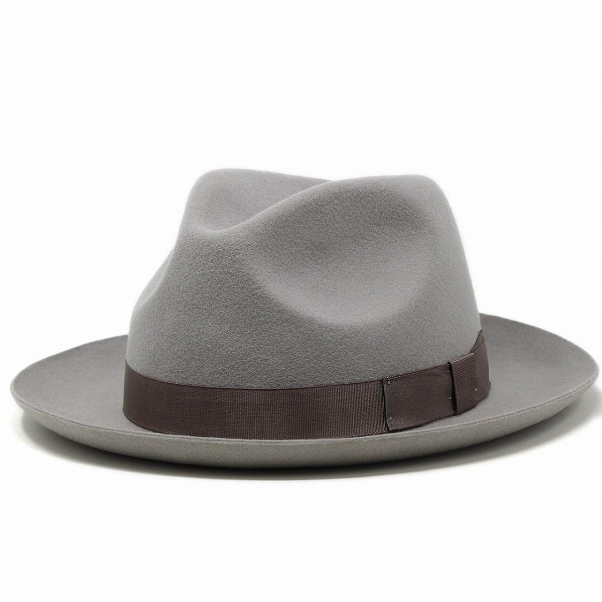 中折れハット クリスティーズ フェルトハット ハット CHEAPSTOW CHRISTYS' LONDON メンズ ウールフェルト 帽子 ライトグレー [ fedora ] (40代 50代 60代 ファッション フェルト プレゼント ギフト メンズハット メンズ帽子 ブランド帽子 リボン 紳士帽子 ぼうし)