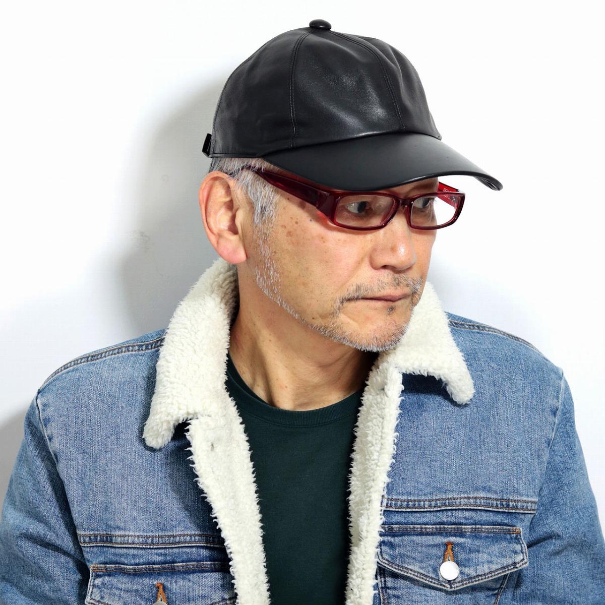 レザーキャップ ダックス 羊革 シープレザー 上質 キャップ 6パネル DAKS 帽子 メンズ オールシーズン シンプル 黒 リアルレザー 日本製 野球帽 本革 かぶりやすい ブラック[ cap ]送料無料 男性 誕生日 帽子 父の日 ギフト プレゼント