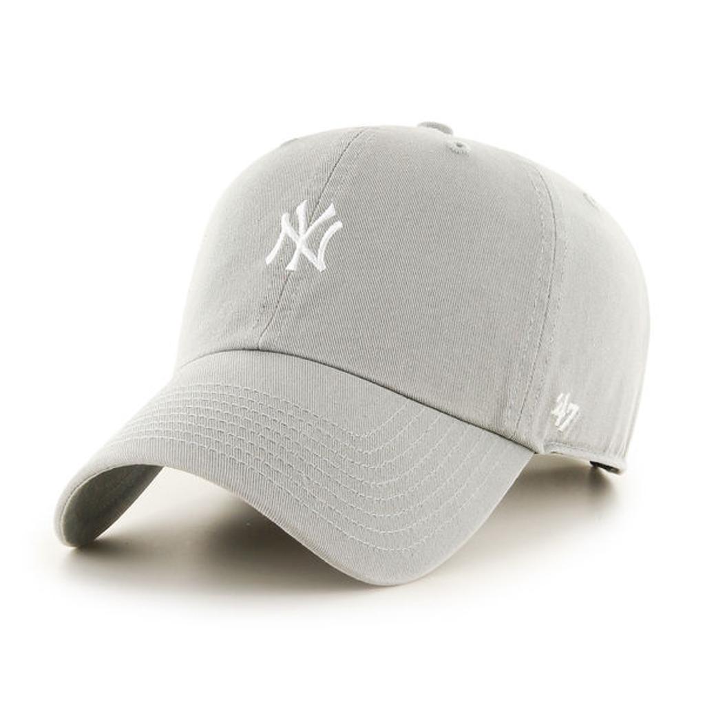 メール便無料 47brand キャップ 公式 メンズ 帽子 通信販売 コットン ニューヨークヤンキース ベースボールキャップ ミニロゴ レディース フリーサイズ バックベルト サイズ調整可 クリーンナップ フォーティーセブン UP '47 cap ブランド Baserunner ヤンキース CLEAN グレー クリスマス Yankees Grey ラッピング無料 ギフト baseball