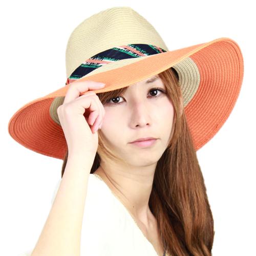 7594c7b21adb2 Hat Hat ladies collar wide resort Dorfman UV cut SCALA John Noyofan legacy  Orange JOHN CALLANAN beige scarf wrapped