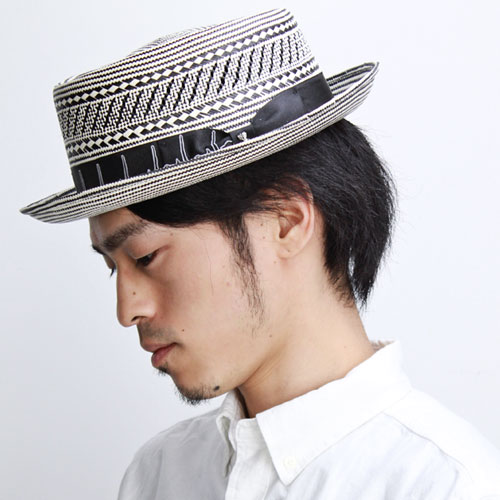 bbdfbf34811 Straw Hat men s   spring summer pork pie Hat boaters Hat   Carlos Santana  hats fashionable monotone  Healer   black (hat shop hats)