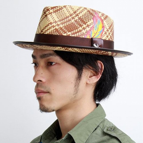 c134c75ec5d Hair men s spring summer hats Carlos Santana hats check pattern natural  fiber casual Fenix Brown (snazzy Panama Hat and men s hats mens Hat hat  store) ...
