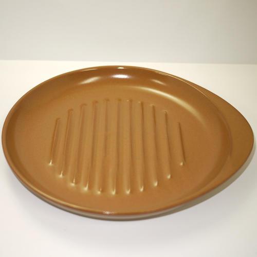 直火で焼いてそのまま食卓に!  耐熱セラミック製 ステーキ皿 23cm 直火OK 日本製