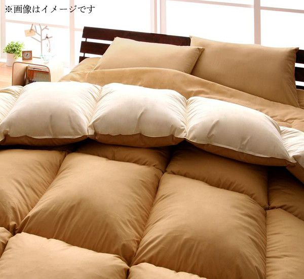 【送料無料】 掛け布団 入り 布団セット ダブル 10点セット 床畳用 羽根布団 布団