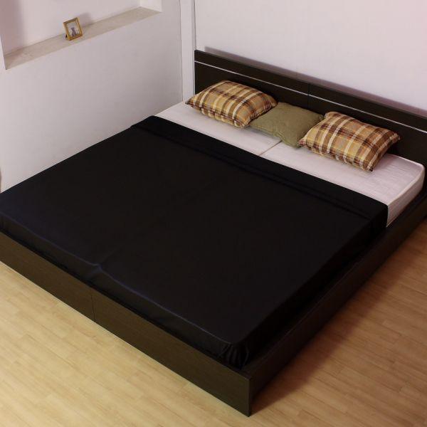 【キングサイズ レギュラーマットレス】 パネル型ラインデザインベッド (284) 全2色 国産フレーム シンプルでスタイリッシュなパネルベッド 【メーカー直送】【代引不可】