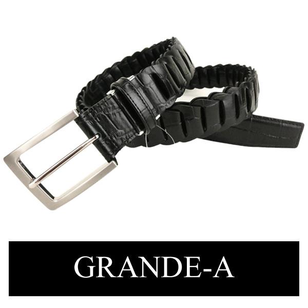 グランデ 牛革 ロングベルト(最長103cm/黒) 【ギフト包装無料】GRAND-A メンズ be35043b-4
