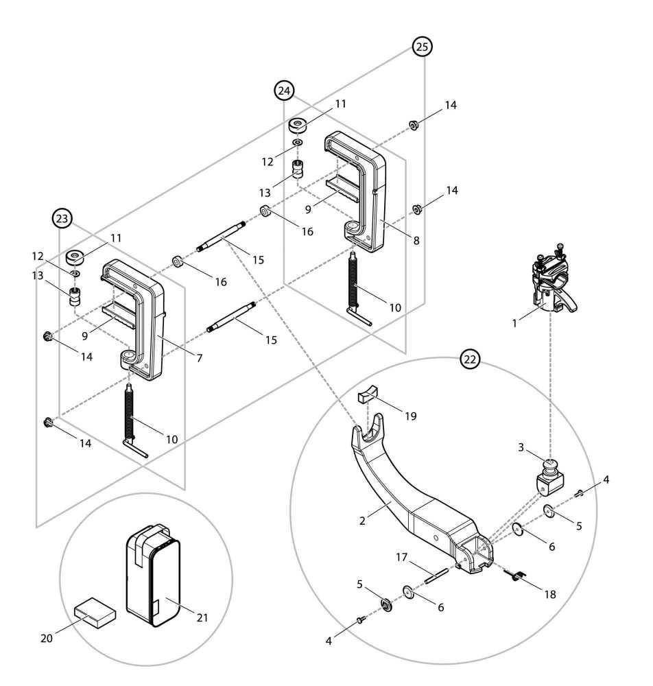 【部品】 クランプセット (09151) パーツNo.25 [第一精工 ウルトラ最強ラーク]
