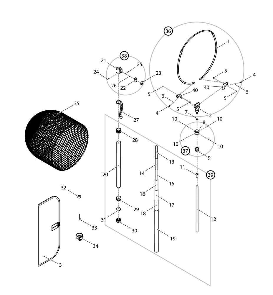 【部品】 オートキングフレーム38cm (39089) パーツNo.36 [第一精工 オートキングフレーム38-350T レッド]