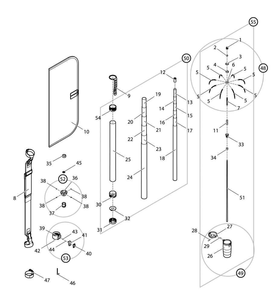 【部品】 シャフトセット RE (40353) パーツNo.50 [第一精工 オートキングギャフ550X レッド]