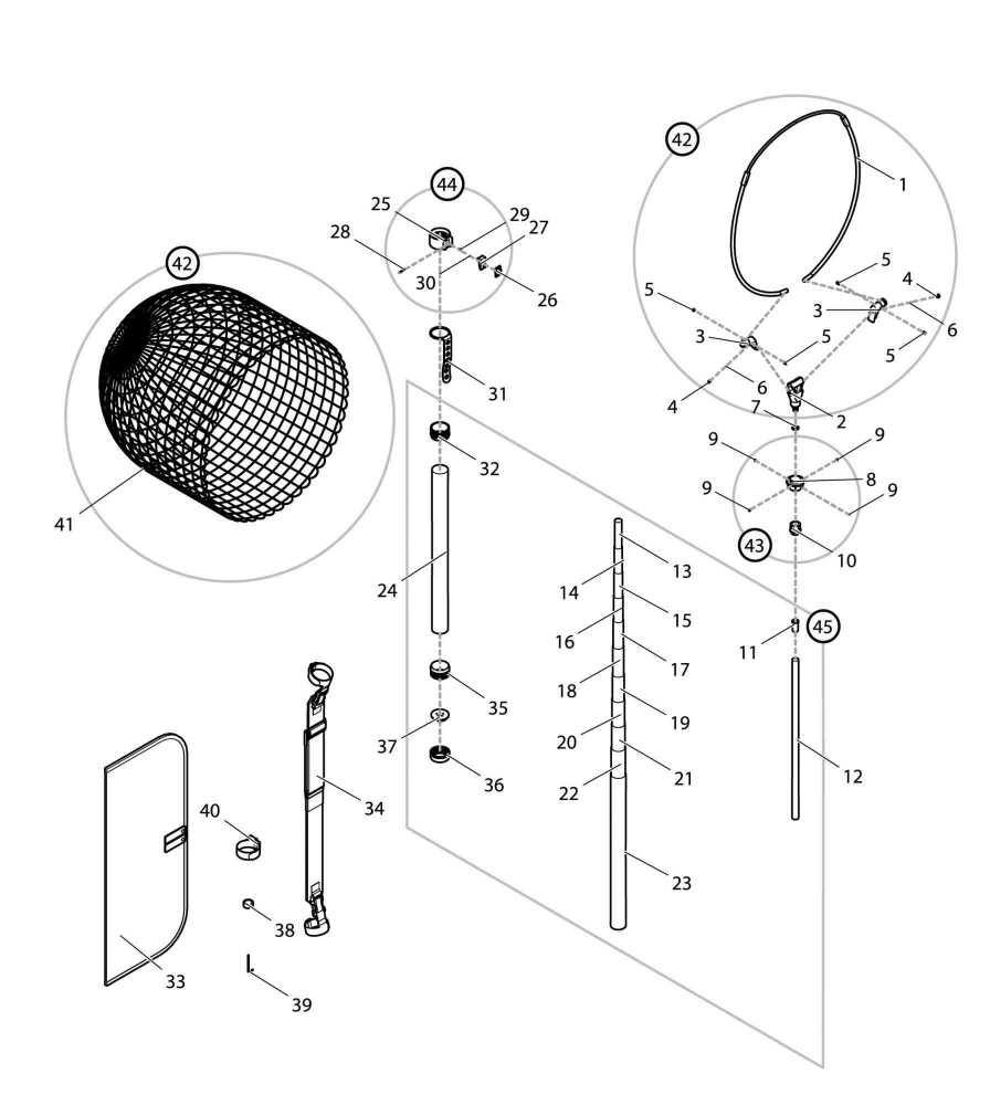 【部品】 オプション オートキングフレーム 48cm G (32113) パーツNo.42 [第一精工 オートキングフレーム48-550X ガンメタ]