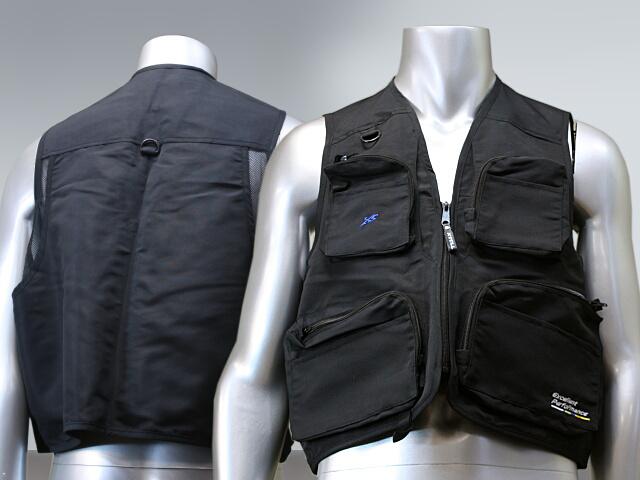 Fishing vest (black/khaki) X'SELL