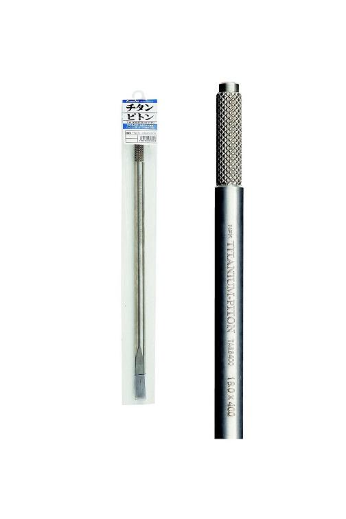 チタンピトン [16φ×500mm(ローレット部13.5φ)] NPK(ナカジマ)(2603)