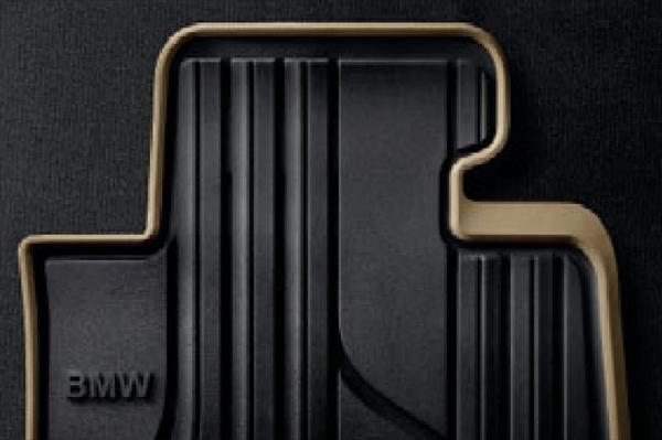 3シリーズ(F30/F31) xDrive) フロント・セット ☆BMW純正☆オールウェザー・フロアマット 左ハンドル車用 ブラック/オイスター(Modern) (除320i