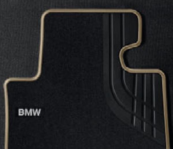 ☆BMW純正☆フロアマット・セットTextile ブラック/オイスター(Modern) フロント・セット 3シリーズ(F30/F31) 320i xDrive 右ハンドル車用