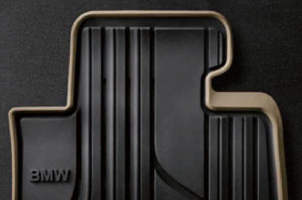 ☆BMW純正☆オールウェザー・フロアマット ブラック/オイスター(Modern) フロントセット 3シリーズ(F30/F31/F34) 右ハンドル車用 (除320i xDrive)
