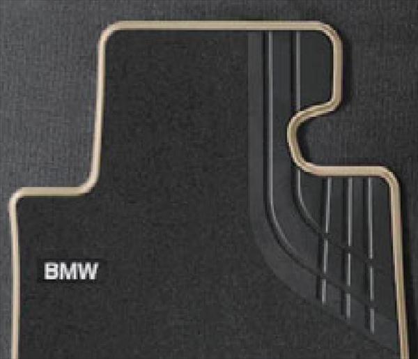 ☆BMW純正☆フロアマットTextile ブラック/オイスター フロント・セット 4シリーズ(F32/F33/F36) 右ハンドル車用 (除420i xDrive)