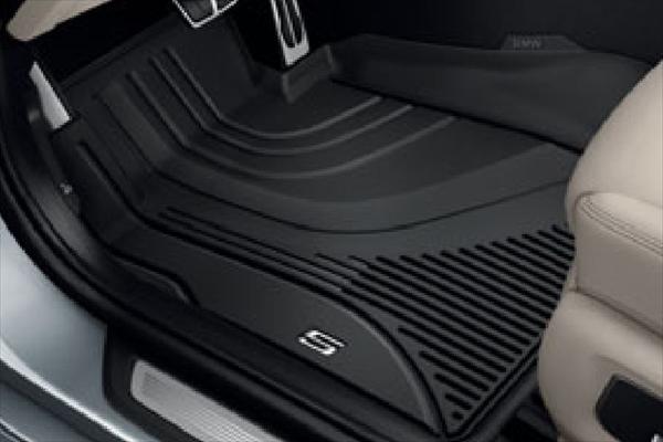 ☆BMW純正☆オールウェザー・フロア・トレイ ブラック フロント・セット 5シリーズ(G30) 左ハンドル車用