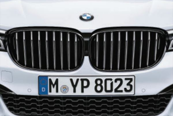 ☆BMW純正☆BMW M Performance ブラック・キドニー・グリル 左右セット 7シリーズ(G11/G12) Mエアロダイナミックス・パッケージ非装備車用